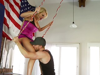 Weird sexual experience with naughty blonde Kelly Madison