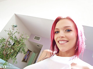 Rammed - Anna Bell Peaks squirts ash she fucks two dicks